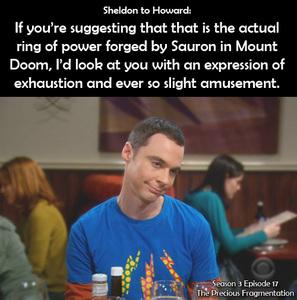 Sheldon Cooper B.S., M.S., M.A., Ph.D. From The Big Bang Theory X3