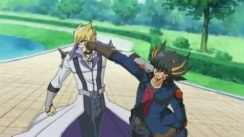 HA, HA Double punch!!! XD BTW this was from an episode (I can't remember which one XD) were Jack and Yusei fight.