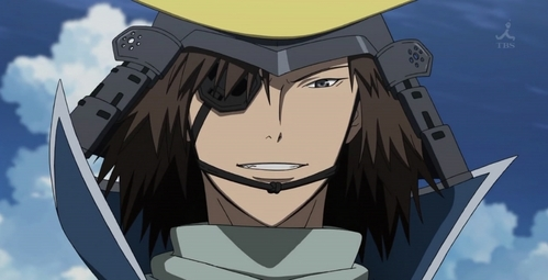 fecha Masamune from Sengoku Basara! Sven Vollfied from Black Cat and Nice Holystone from Baccano! also came to mind ^^