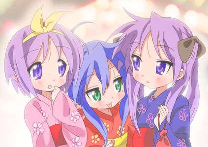 from lucky stella, star my fav characters is hiiragi kagami and konata^^
