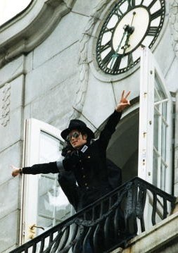 "I'm Norwegian, and live just outside Oslo. Here's Michael in Oslo... (I often walk past that hotel, and look up on that balcony and think of MJ! It's my special ""Michael place""!)"