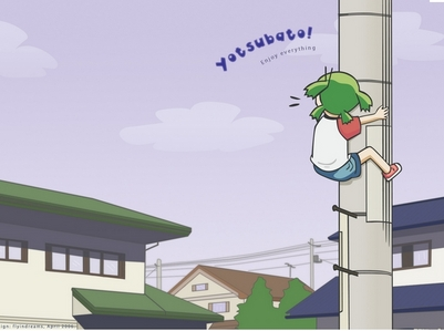Yotsuba! I was surprised that it wasn't an Аниме already because I thought it was a really fun to read an fun manga..It was really amazing I think it deserves an anime.