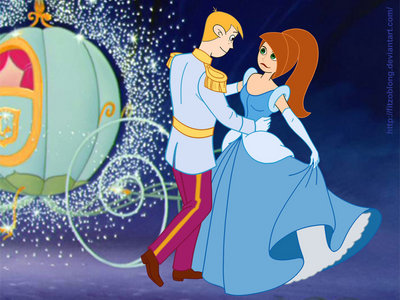 a disney romance : ron stoppable as prince charming and kim possible as cenicienta