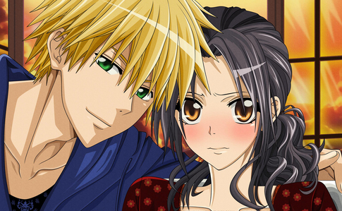 from maid-sama Misaki and Usui