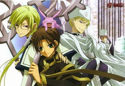 hey!!! try this 07-Ghost Genres: Action, Demons, Fantasy, Magic, Shoujo, Military 25 episodes Teito Klein, a student at the academy, is one of the most promising soldiers produced. Although ridiculed by everyone for being a sklave (German for slave) with no memories of his past, he is befriended by a fellow student called Mikage. While preparing for the final exam, Teito uncovers a dark secret related to his past. When an attempt to assassinate Ayanami, a high-ranking official who killed his father, fails, Teito is locked away awaiting punishment.