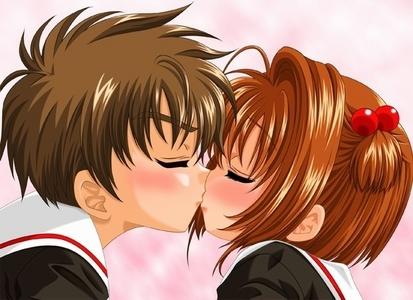 Sakura and Syaoran!! The are so cute!!!!