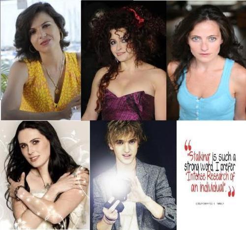 Bellatrix (Harry Potter) Regina Mills/The Queen (Once Upon A Time) Luna Lovegood (HP) Narcissa (HP) Mrs. Lovett (Sweeney Todd) Icy (Winx) Beatrice (Umineko no Naku Koro Ni) Erin Watts (BBC's Spooks) Nerissa (W.I.T.C.H.) Irene Adler (BBC's Sherlock) Eva (Miami Medical) Azula (Avatar The Last Airbender) Kyohei (Wallflower) Sunako (Wallflower) Isabella Gisborne (Bbc's Robin Hood) The White Witch (Narnia) Bellatrix (HP) Nehelinia (Sailor Moon) Lust (FMA) Envy (FMA) Sloth (FMA) Wrath (FMA) Mrs Yukari (Azumnga) Heather (TDI) Siobhan McKenna (Genral Hospital) Deidara (Naruto) Temari (Naruto) Vivaldi (Alice In The Country of Hearts) Meda (Faries landing) Ari (Maximum Ride) Mia (Vampire Acadmy) Leahanside (Iron Fey) Puck (Iron Fey) Bellatrix :3 (HP) Queen Titania (Iron Fey) Seako (High School of the Dead) Eva(Umineko) oh look I like to Evas Hideyoshi (Baka to Test) Miharu (Baka to Test) Ayako (Ghost Hunt) Shiro (Deadman Wonderland) Draco Malfoy (HP)