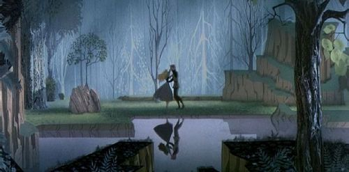 there are many!but i ubsolutely love the scene from sleeping beaty when she dances with prince phillip in the forest and the part of your world scene in the little mermaid