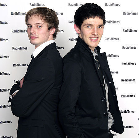In my view colin モーガン, モルガン but bradley james is ok too.