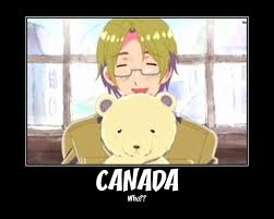 Well I do like Canada and I'm Canadian. But my favourite character is Italy yet sadly I'm not Italian. :(
