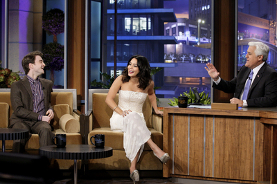 Dan in an interview with gaio, jay Leno and Vanessa Hudgens. Dan is talking about his girlfriend and The Woman in Black.