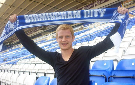 I met Chris Burke who plays for Birmingham Football Club!:) He went to my school for the day!
