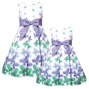 Purple,white & green.