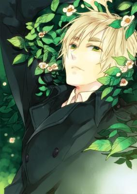 Pfft cartoon characters are better than real ones JK my Anime crush is this guy right here Britain from Hetalia <3