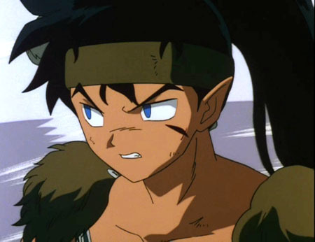 anime name: Inuyasha Name: Koga Age: 15 (in human years) (200 in demon years) Hair color: Black