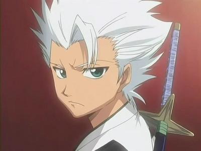 anime's name: bleach name: toushiro hitsugaya age: it's not identified yet colour of hair: silver