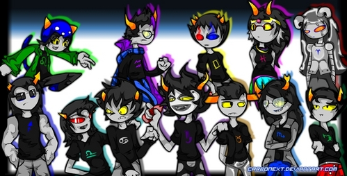if your talking about homestuck, take a look at the picture below. these are the homestuck trolls, if tu want to know más about them, just contact me anytime!
