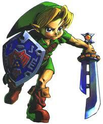 He is left handed although there are re encarnations of link so in some of the games he will look like if he's right handed, but officially he is left handed (here's one where he has sword on left hand, it's the razor sword and hero's shield which is acquired in majora's mask)