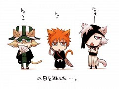 Left to right Urahara, Ichigo, and some other guy...