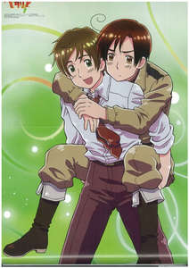 i don relly know wat u mean ^^' liek bffs? tell me if im doing this rong but imma post romano and spain(because i amor romano<3) note: dont blame me if im doin this rong ^^' and no i do not c them as a couple cuz romano ish MINE<3 :D v this is SOOOO cute XD
