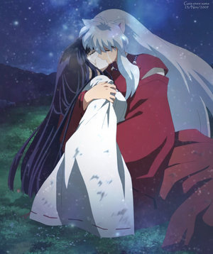 Kikyo and Inuyasha. Rin and Sesshomaru are cute, but they don't really have a romantic relationship...