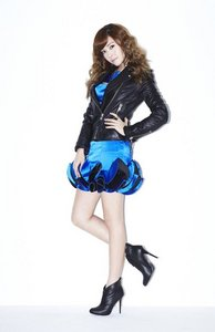 Jessica in blue and black! (which are my 2 fav colors)