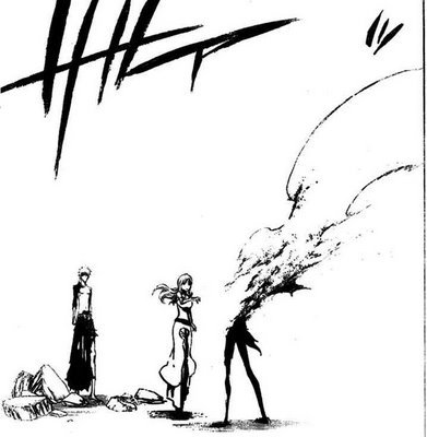 Ulquiorra gettin killed によって ichigo in bleach and turnin to sand
