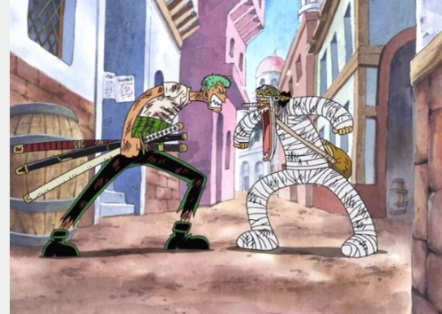 anime Character with a weapon all righty here's a picture of Zoro-kun from One Piece with his multiple swords!XD