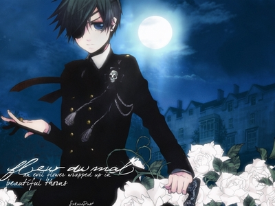 Ciel from Black Butler I couldnt find a picture of him dieing so heres just a picture of him.