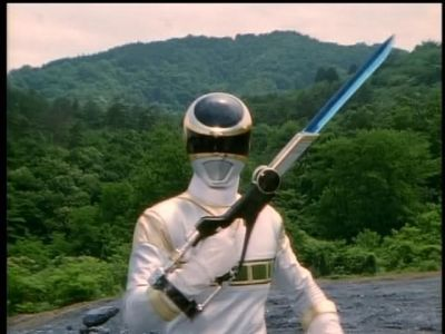 No, but I've dreamed about flying high like the Silver Ranger, blasting into outer space, and kicking aliens' asses.