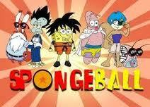 Dragon ball z mixed with spongebob...