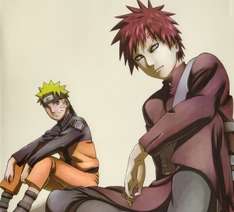 This picture of Sabaku No Gaara ;D (and Naruto in the background of course) But yeah... Gaara ;D <3