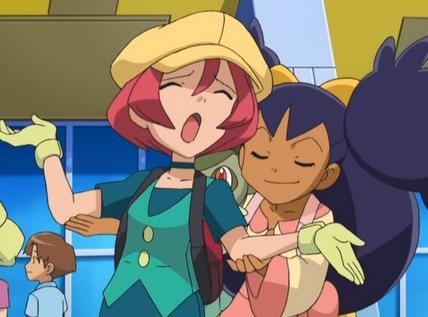 عملی حکمت Rivals..hmm..well how about Iris and Langley from Pokemon!