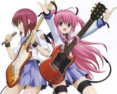 first 2 people to pop in my head X3 iwasawa and yui from エンジェル beats~!