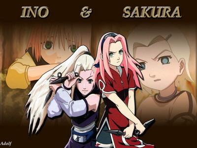 Sakura Haruto and Ino Yamanaka(Tsunade and Mei,Lee and Neji)from Naruto!