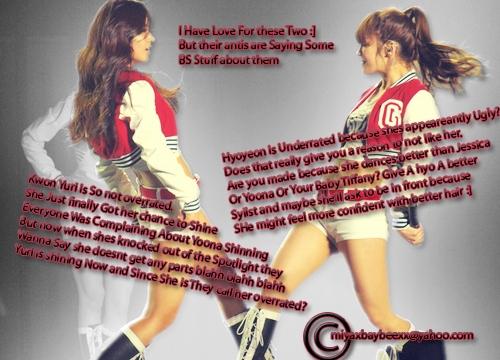 the most sexiest girl in snsd is yuri n hyoyeon...^^
