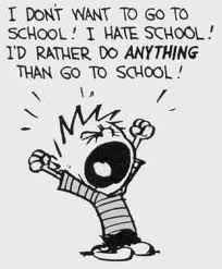 I hate EVERYTHING about school.