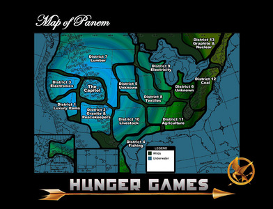 Panem. There's no 'offical' map, so I just went with the best I could find. :D