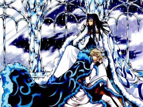 fai d flourite (tsubasa chronicles) it would be a spoiler if i tell 당신 behind his smiles he really keeps something very dark and he wouldn't want them know about it all i can say is that it's all about him and his twin brother and them being born together is a sin photo: fai (blonde) with ashura (in white/blue coat)