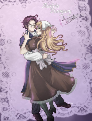 Austria and Hungary from Хеталия there the cutest non-yaoi couple i love!! CX