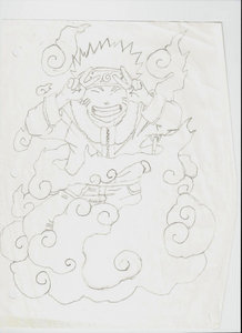 Here's a drawing of 나루토 from...Naruto.. :P I haven't coloured 또는 shaded it.. ^-^' Larger image: http://xroxy101x.deviantart.com/art/Naruto-says-PEACE-281829432?q=gallery%3Axroxy101x&qo=3
