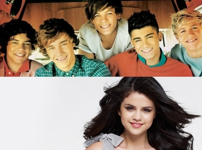 One Direction (all) And Selena Gomez. I'm sorry but I can't make a choice between them...