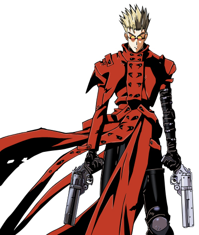 Vash the Stampede. Who WOULDN'T want to be an ace gunman who has $$60,000,000,000 on his head, thus making him an easy target? XD But in all seriousness, anyone who's watched Trigun will know why I'd like to be Vash the Stampede. The guy's a master at firearms, almost never missing a single shot. He can even change the trajectory of a bullet (or anything else coming right at him 또는 anyone else).