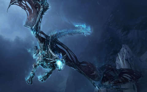 i would be an ice dragon and look like this one, but meer cyan.