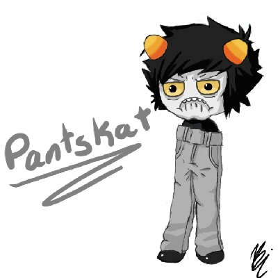 I hate it when Pantskat interrupts me!D:< Me:Oh I actually got to ans- Pantskat:SHUT UP,FUCKASS!