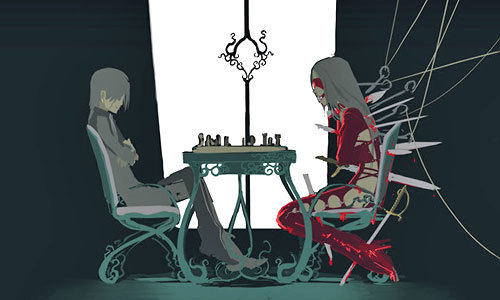 anda have to give Rin~daughters of mnemosyne a shot man. It's not based on school and it's kinda sexual and gorey. It's like a lebih extreme version of Elfen Lied. anda might not like it. Don't watch it if your under 15, not like your gonna listen but yeah. If anda read this and it sounds like your thing give it a shot. It's motherf*cking awesome.