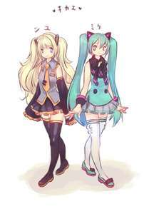 seeu and miku hatsune