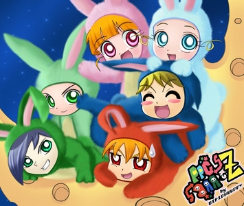 the rrbz & ppgz as bunnies :HAPPY EASTER DAY!!!!!!!!!!!!