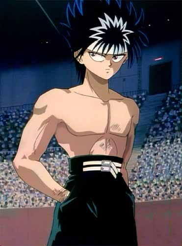 Hiei <3 Here's a few 더 많이 ( I especially 사랑 the Fruits Basket one haha!) http://www.otakuhouse.com/blogs/commentary/gallery-topless-anime-men/