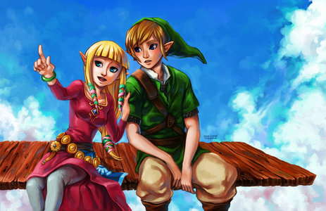 Here is Zelda and Link from skyward sword.